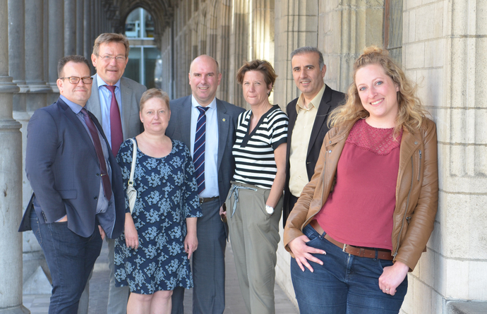 Freya Perdaens en de topkandidaten van N-VA Mechelen