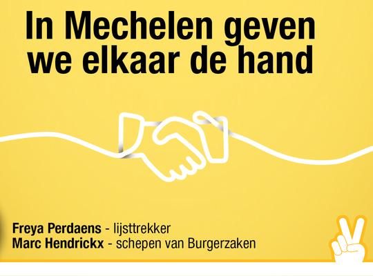 In Mechelen geven we mekaar een hand