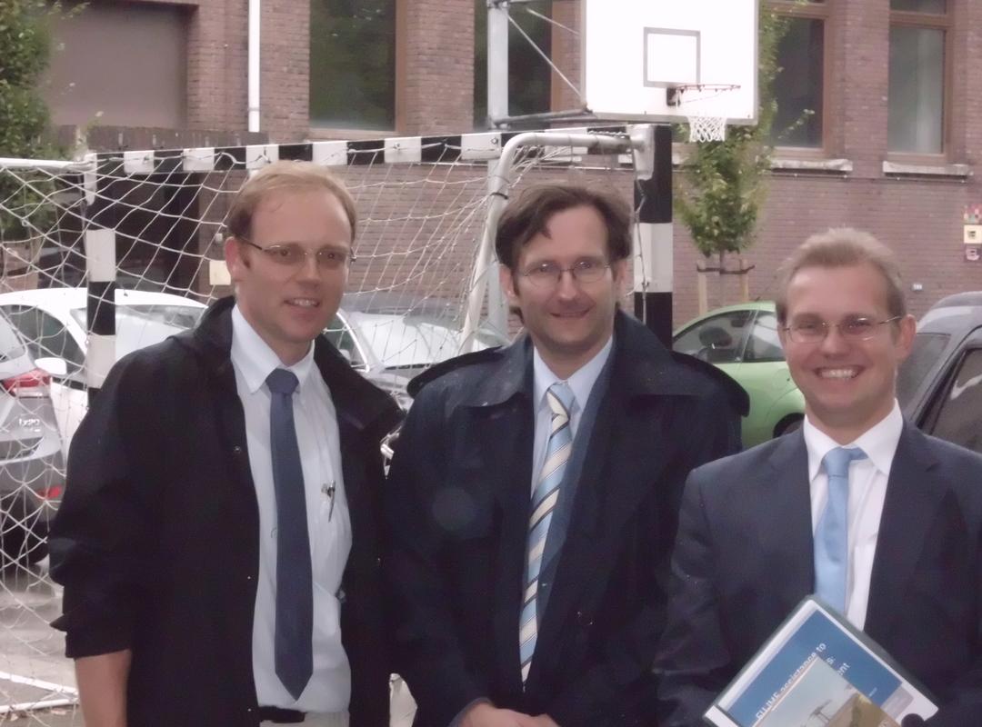 Karl Vermaercke, Karl Wijnen en Bert Smits in de Werkgroep Onderwijs van N-VA Mechelen